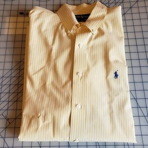 Ralph Lauren Blake yellow striped shirt XL R19